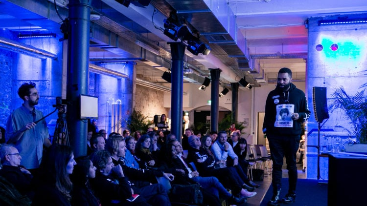 Startups pitching at Factory Berlin events.