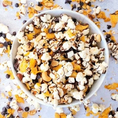 Popcorn Snack Mix (No-Bake Recipe)