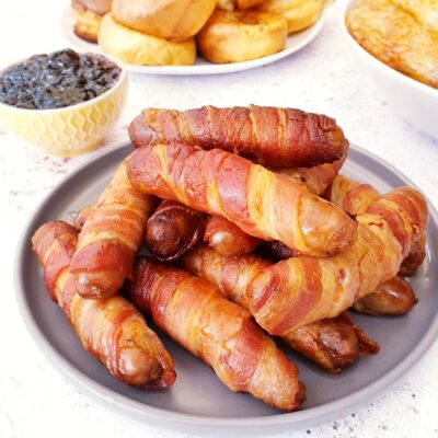 Pigs in Blankets (UK Bacon Wrapped Sausages)