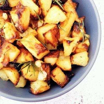 Roasted Potato Cubes with Rosemary