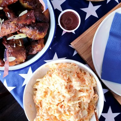 Everyday Americana Feast: Ribs, Slaw & Sweet Potato