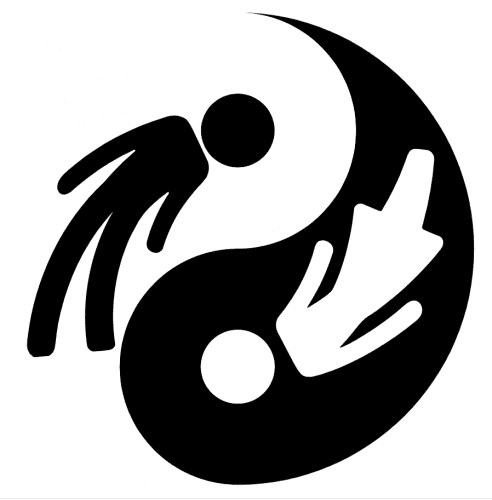 Yin Yang symbol with male and female represented