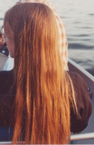 Red hair in the sunlight