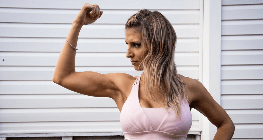 Arm workout for women with weights
