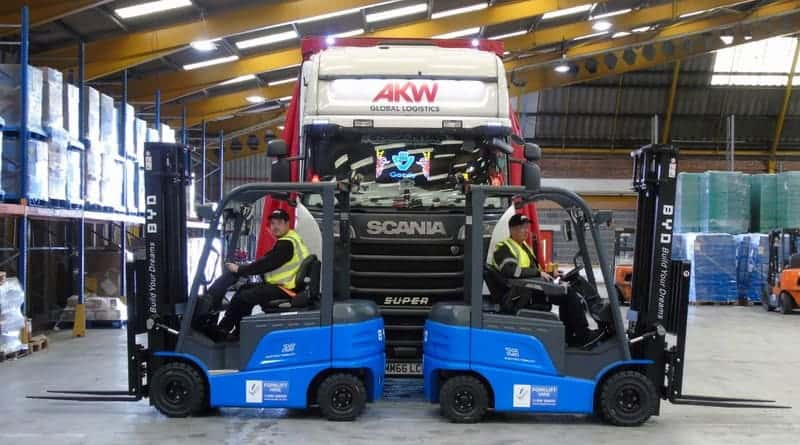 AKW Global Logistics Choose BYD Lithium Powered Forklifts