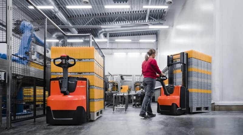Improved Pedestrian Pallet Trucks and Stackers from Toyota