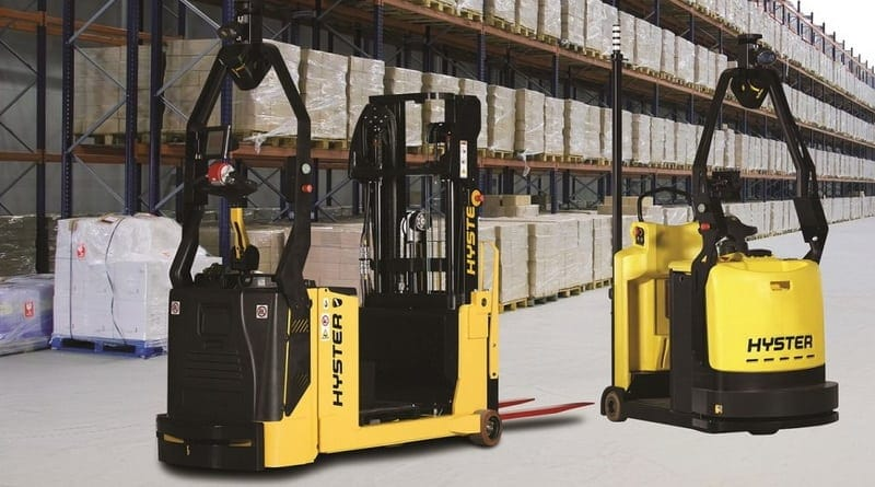 Robotic Hyster Trucks Target Automotive Supply Chain Efficiency