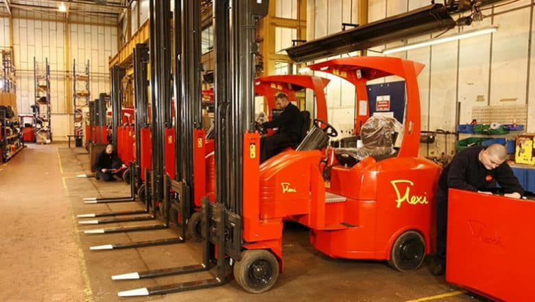 Narrow Aisle drops LPG lift trucks