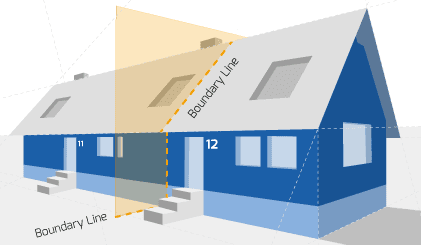 Party Wall illustration for Formby Surveyors