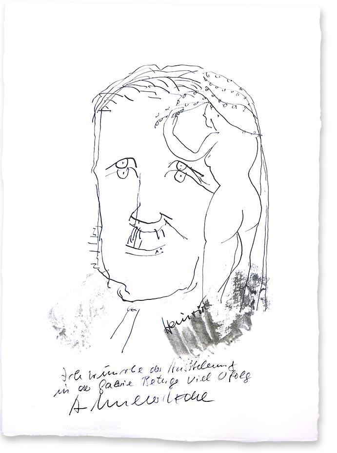 Grafik Armin Mueller-Stahl - mit Widmung