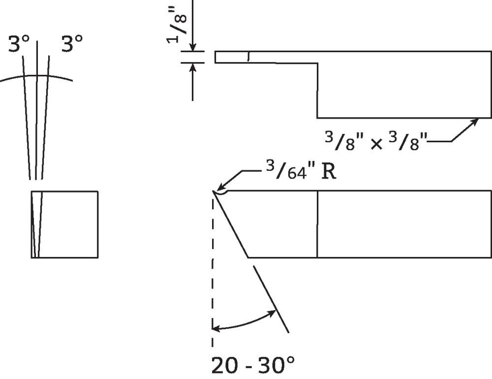 polyurethane parting tool