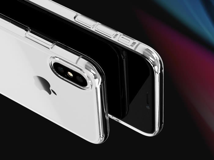 Caudabe iPhone X Protection Clear & Simple