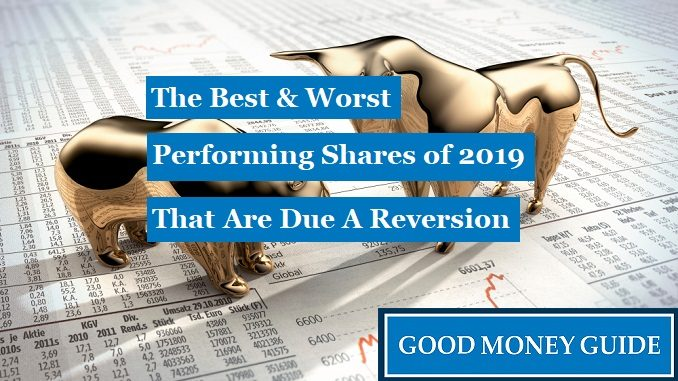 Best and Worst Performing Shares of 2019 Due A Reversion