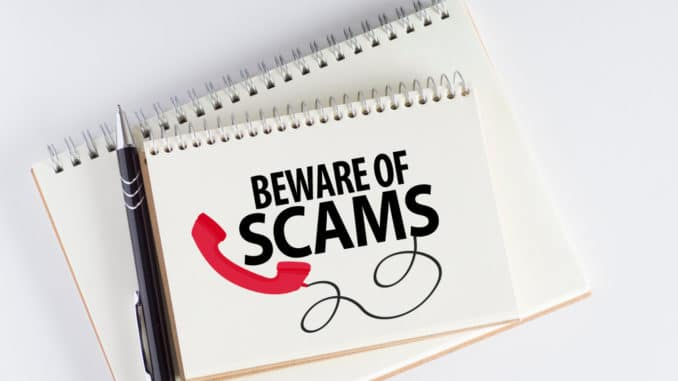 Beware of scams