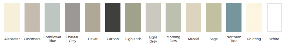 Standard Painted Finishes