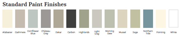 Standard Paint Finishes