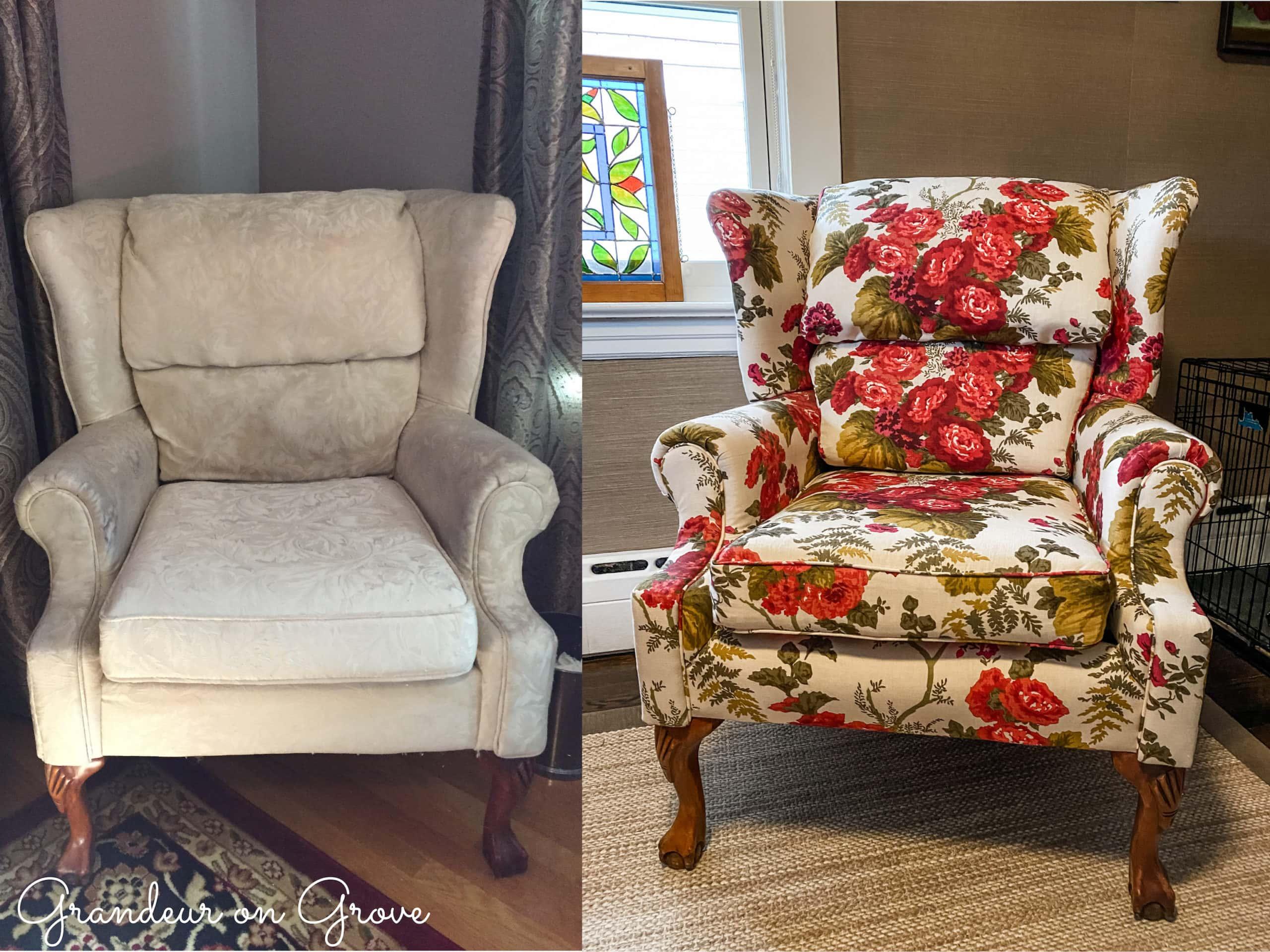 Before & After: Furniture Reupholstery – Grandeur on Grove