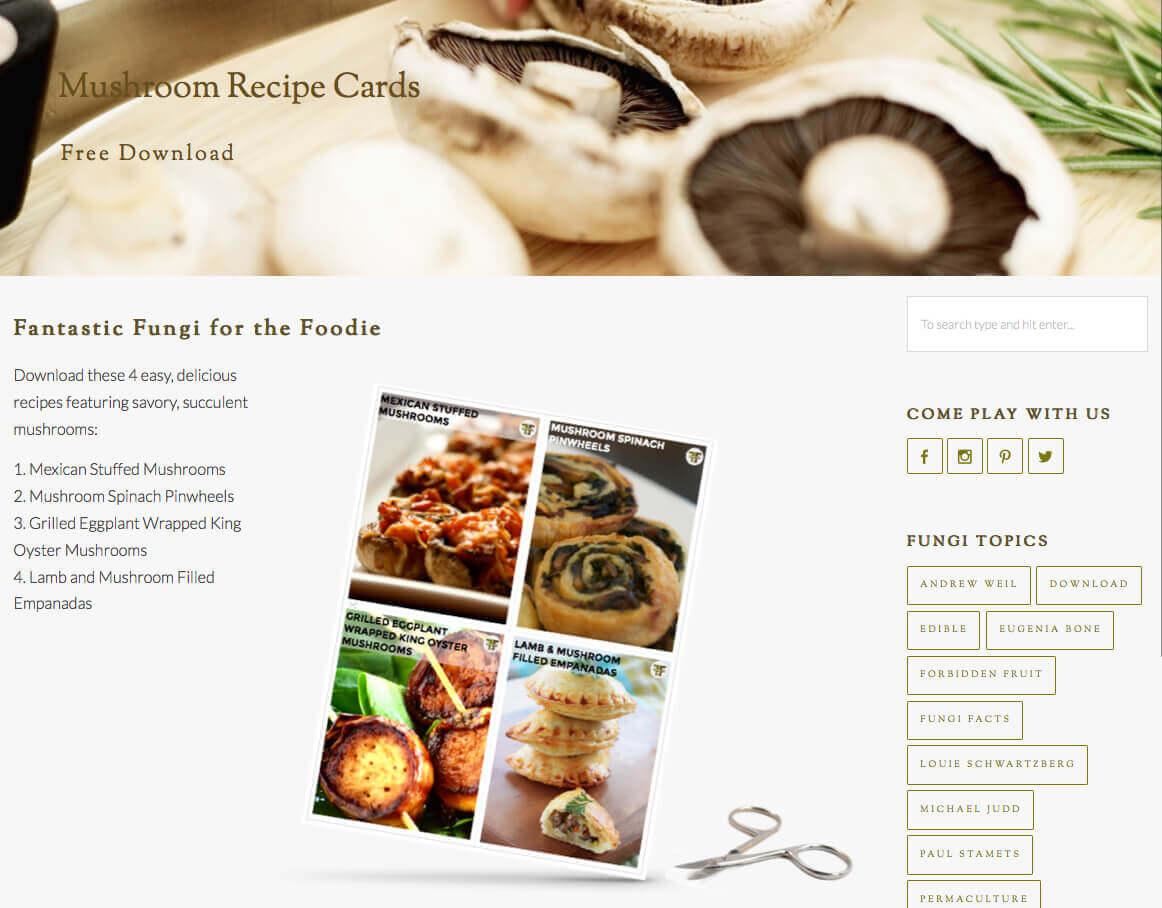 Fantastic Fungi Mushroom Recipe Download
