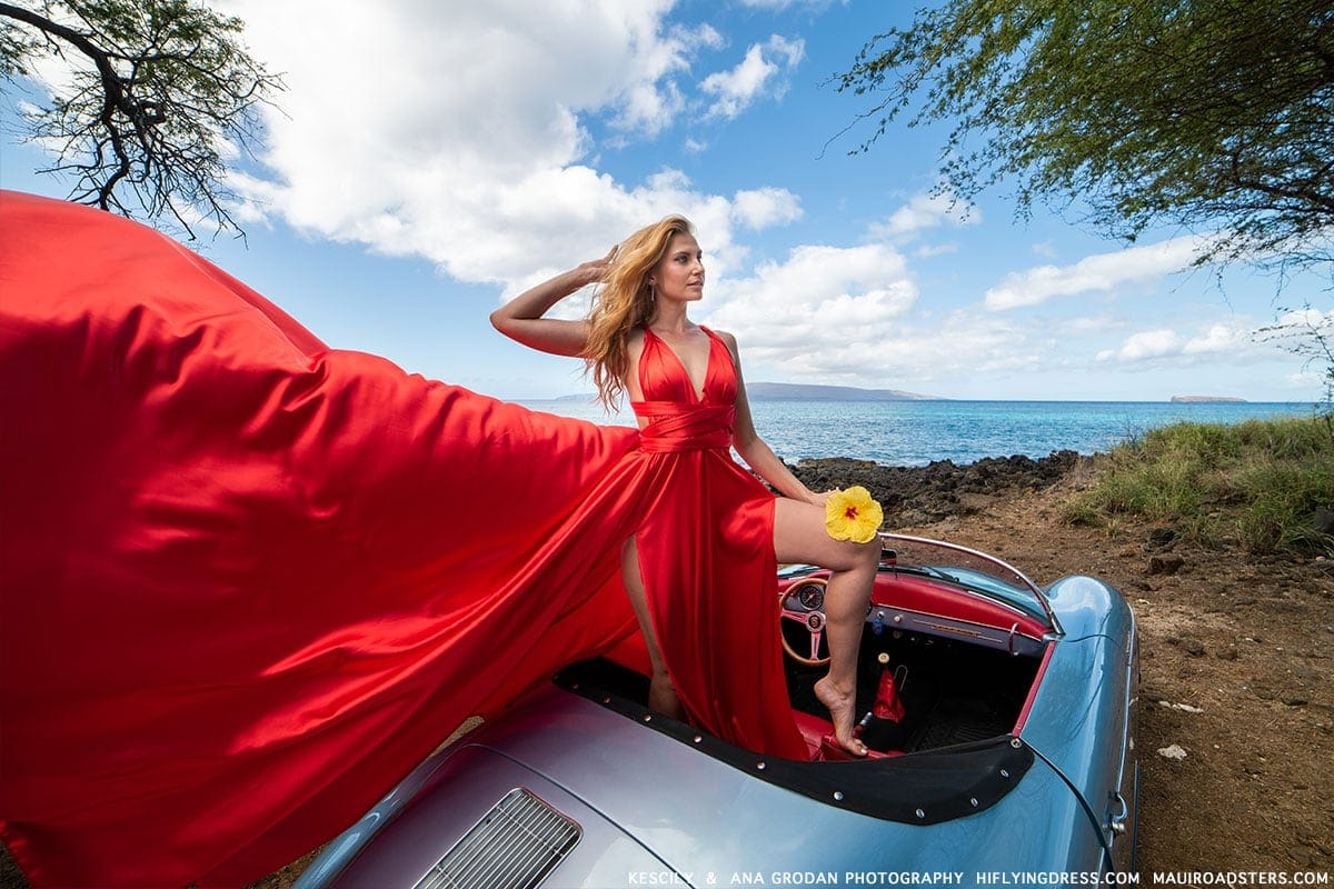Porsche photo shoot in Makena Maui
