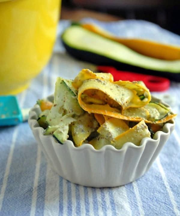 Summer Squash and Zucchini Pesto Salad
