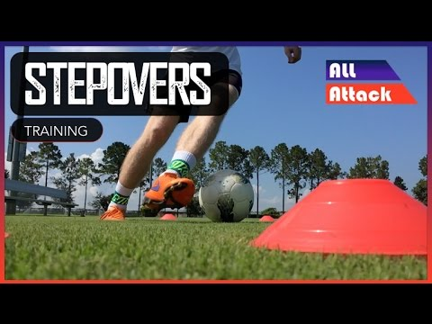 Outside step overs Football Skill Video