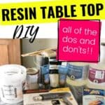 How to make your own Resin Table Top!