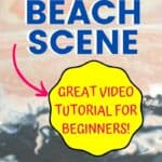Acrylic Painting Lesson Sunset Beach Scene