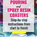 DIY Acrylic Pouring and Epoxy Resin Coasters2