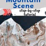 Acrylic Painting Lesson Mountain Scene Step-by-step tutorial