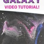 Acrylic Pour Painting Open-cup Pour Galaxy Video Tutorial!