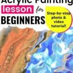Waterfall Acrylic Painting Lesson for Beginners