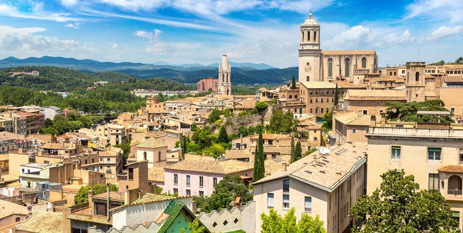 Vista de Girona i la seva catedral
