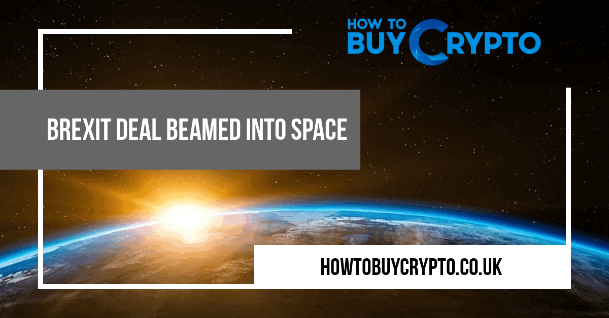 Beamed into space image using bitcoin