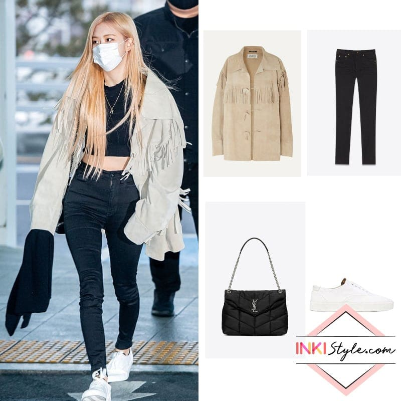 Blackpink S Jennie And Rose Shows Us Their Jacket Style Inspo With Their Recent Airport Outfits Inkistyle