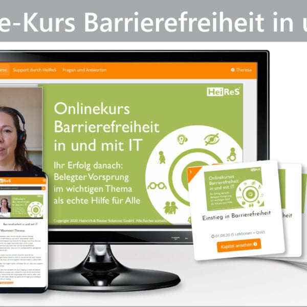 Keine Ausrede mehr: Unser Onlinekurs Barrierefreiheit ist da!