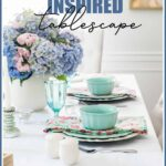 vintage chic inspired tablescape