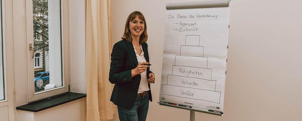 Seminarsituation am Flipchart - Annie Nürnberg