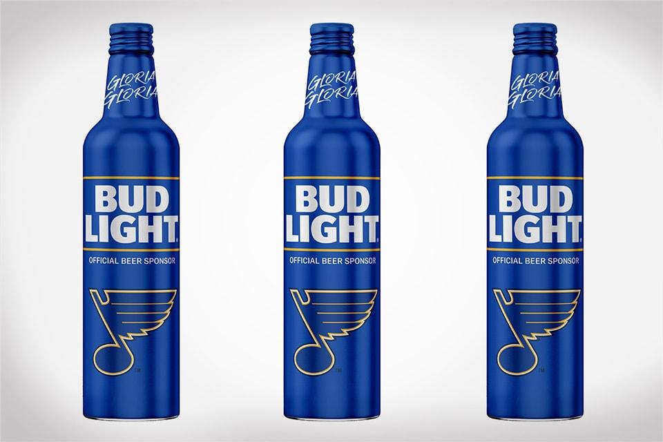 St. Louis Blues Championship Bud Light Bottles
