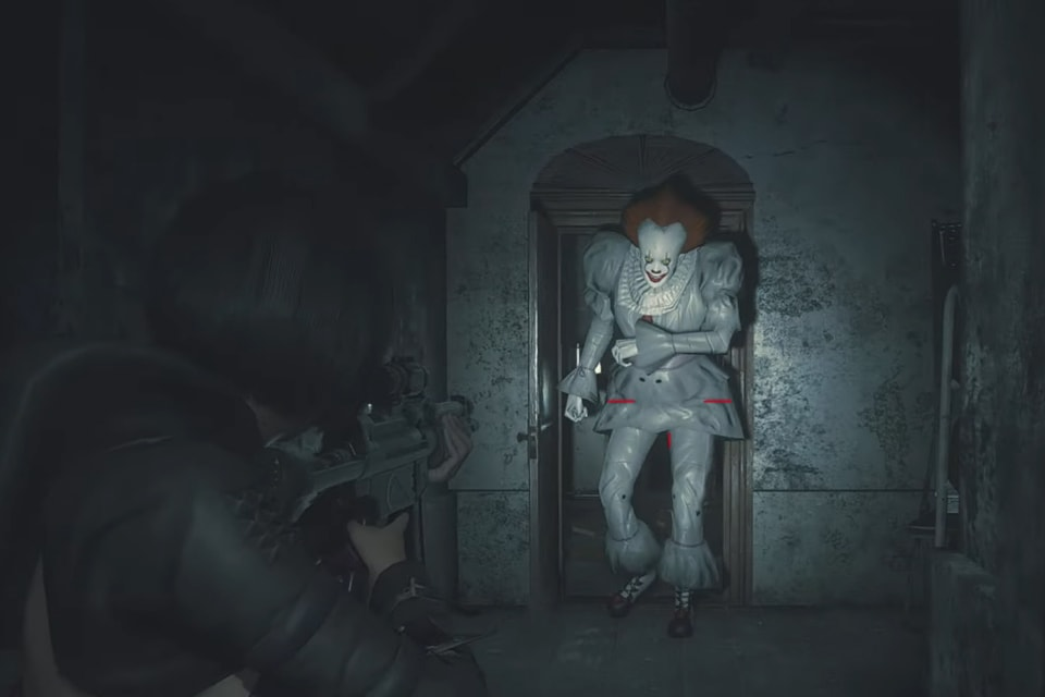 Pennywise in Resident Evil 2 mod