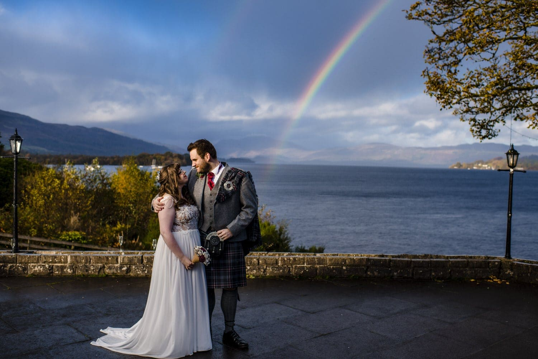 cruin wedding in the rain