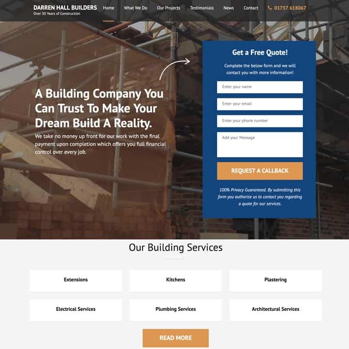 Darren Hall Brochure Website