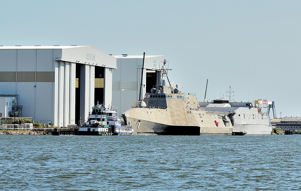 Keel-laying ceremony for LCS 28
