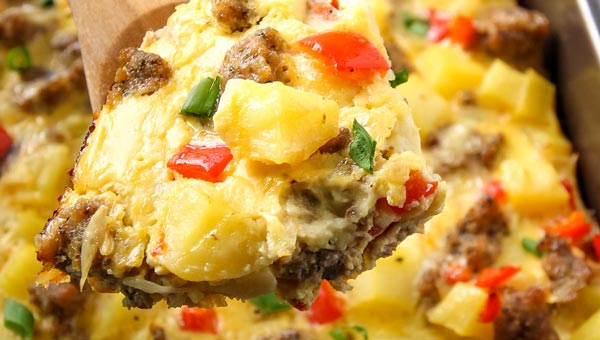 Sausage, Egg, Potato Breakfast Casserole
