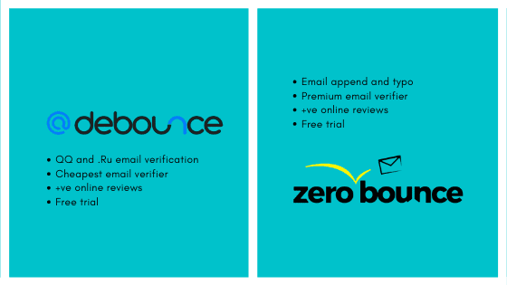 DeBounce Versus ZeroBounce – Email verification tool compared
