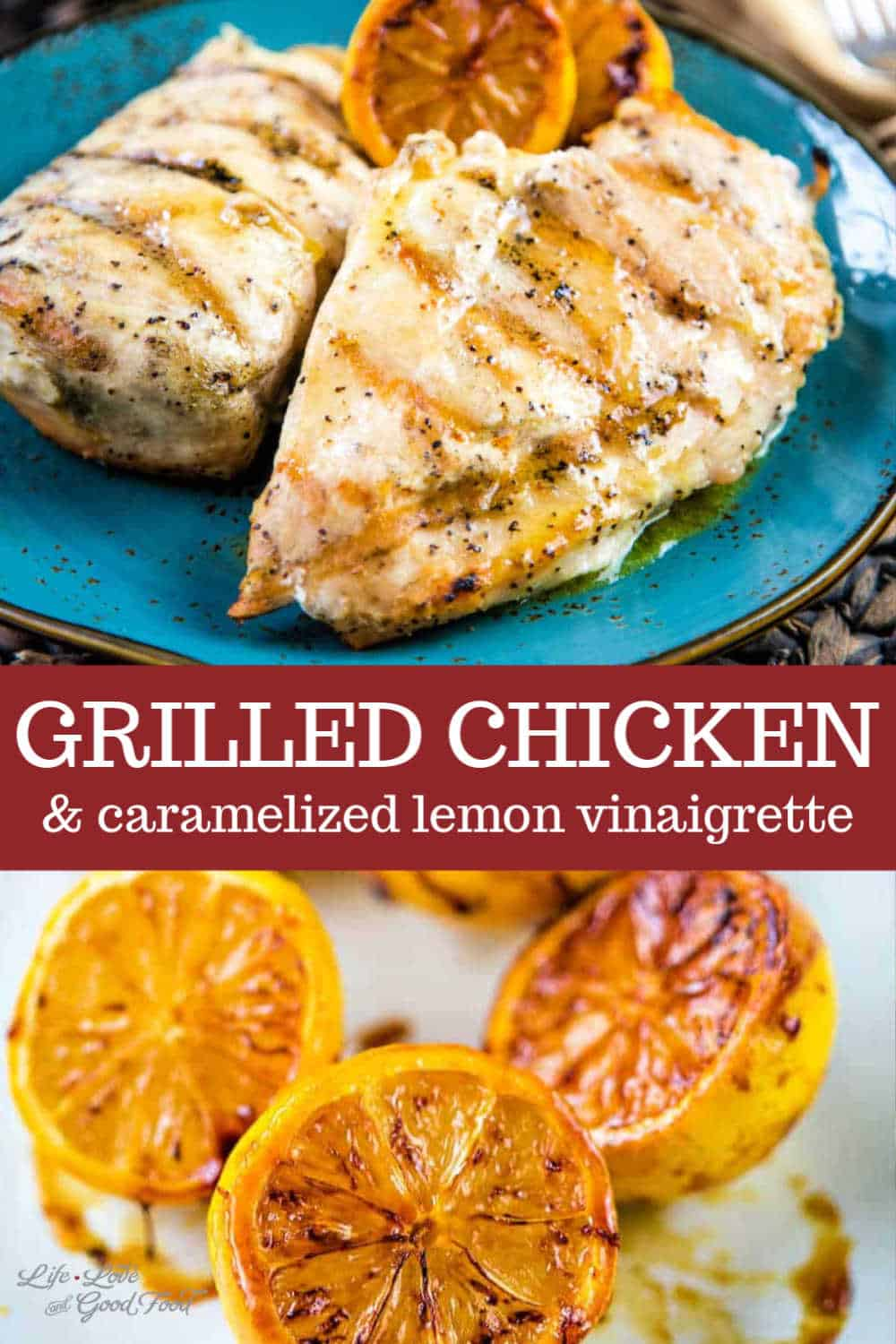 Serve Grilled Chicken with Caramelized Lemon Vinaigrette over salad greens, rice pilaf, or pasta for an easy and delicious dinner. This easy recipe starts with perfectly grilled chicken breasts seasoned with salt and pepper. Once removed from the grill, the chicken is basted with a sweet and tangy lemon vinaigrette. Light, fresh, and healthy, this is one of my favorite grilling recipes ever.