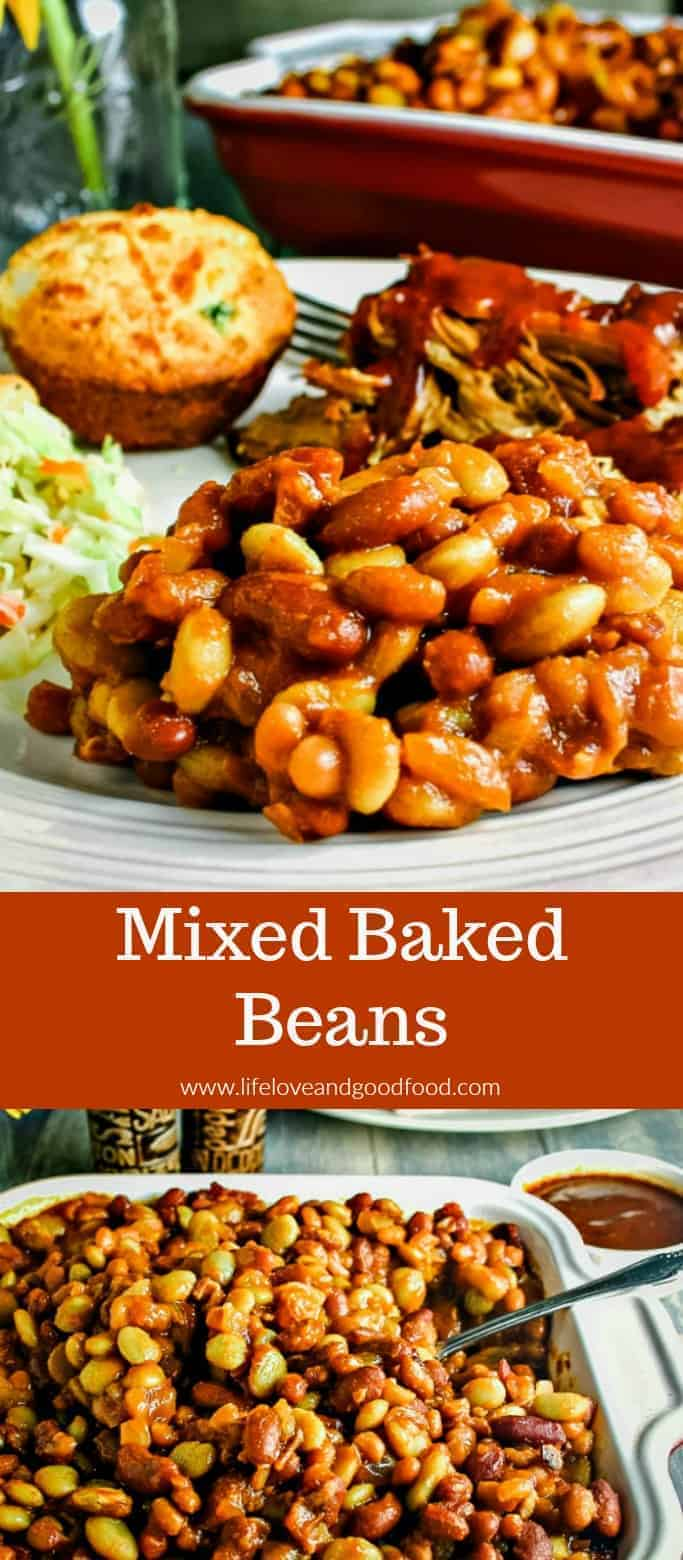 Three different types of beans go into this delicious Mixed Baked Beans recipe seasoned with bacon. It's a perfect side dish for barbecues and picnics!