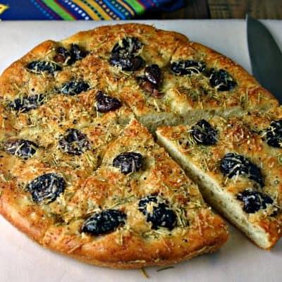 Greek Olive Focaccia Bread