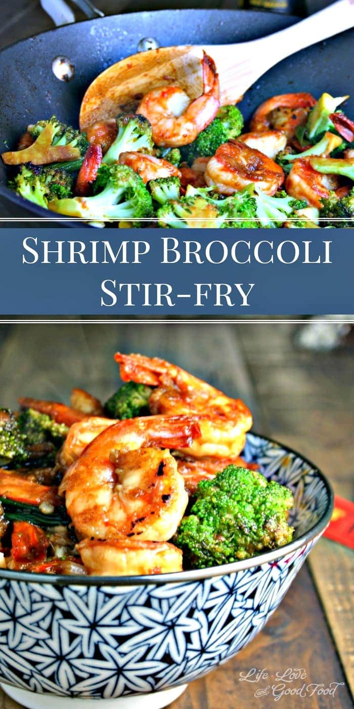 Forget Chinese take-out. Homemade Shrimp Broccoli Stir-Fry can be on your table in less than 30 minutes! #stirfry #shrimp #dinner