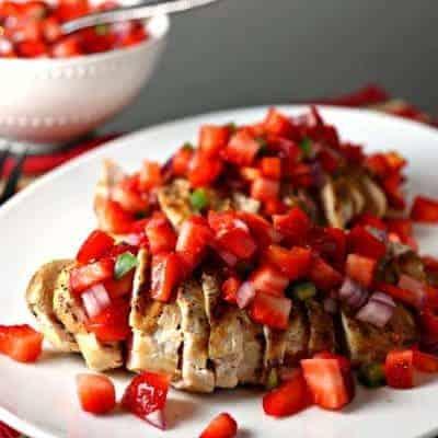 Grilled Chicken & Strawberry Salsa