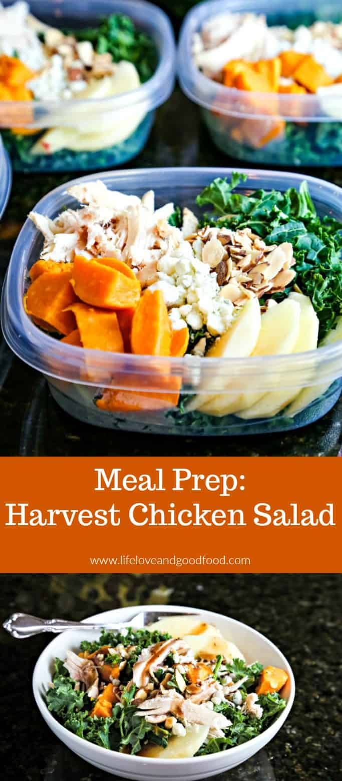 Harvest Chicken Salads: Prep a week's worth of delicious lunches in less than 30 minutes with just a few convenience items! #mealprep #healthylunches #chickensalad